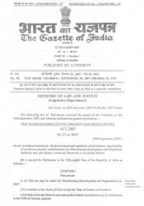 WDRA-gazette-notification